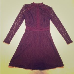 Charlotte Russe red lace dress